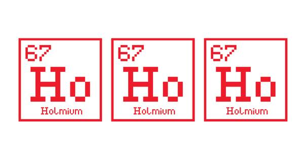 ho ho ho chemistry christmas white