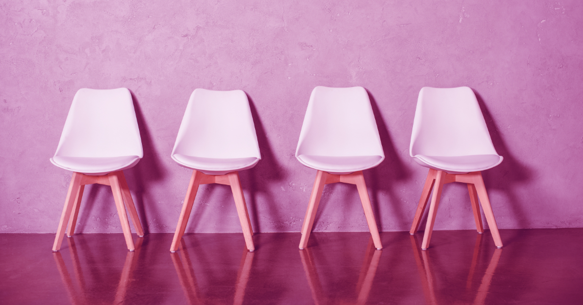 pink chairs