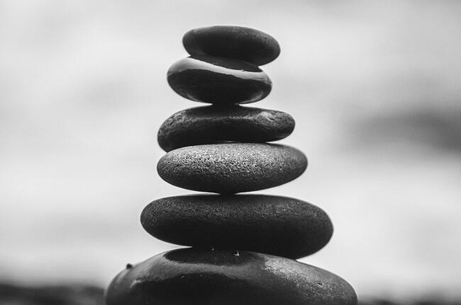 stones balance B&W