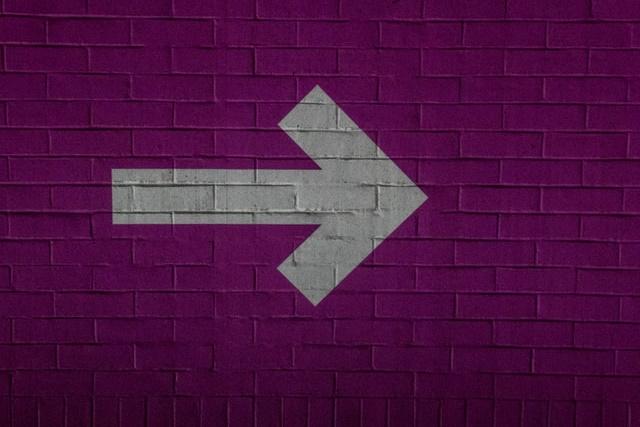 Pink arrow